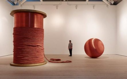 Alice Anderson at The Saatchi Gallery- photo courtesy of The Telegraph