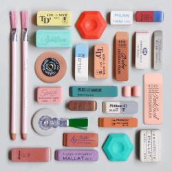 Present and Correct stationery selection of erasers
