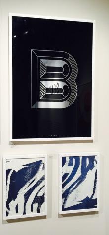 Corin Kennington prints on display at Pick Me Up Festival