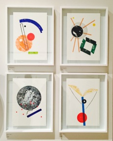 Isabel and Helen graphic prints on display at Pick Me Up Festival