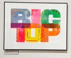 Alan Kitching print with Big Top typography